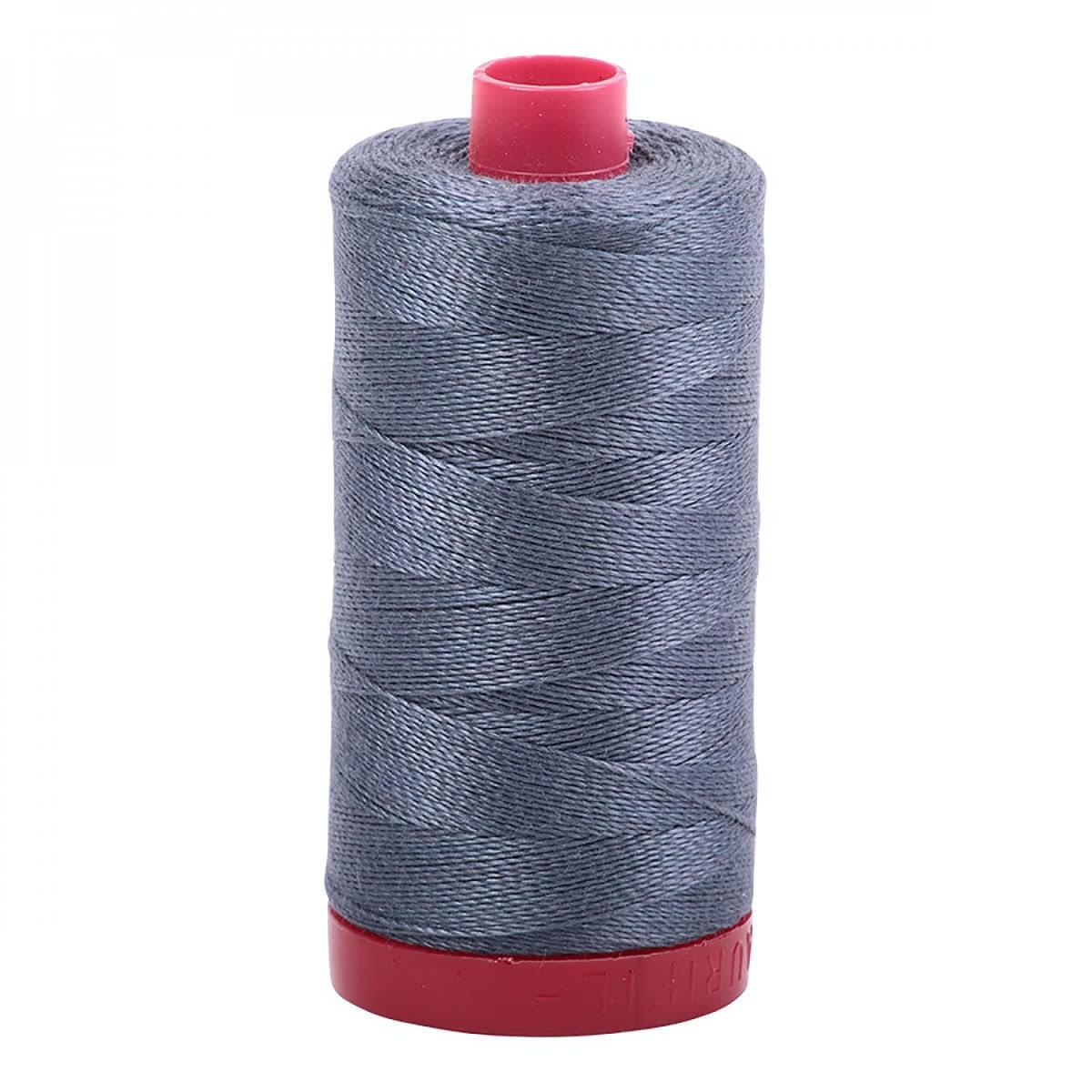Aurifil Mako Cotton 12 Weight 2 Ply Large Spool 386 Yards 325 Meters Black