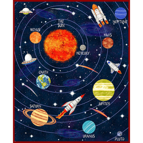 Blank Quilting Fabric Lost In Space Alyssa Kays Solar