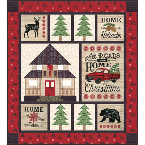 Home By Christmas.Home For Christmas Quilt Pattern By Coach House Designs