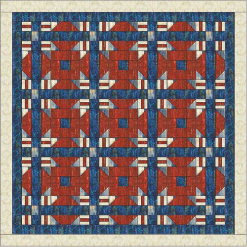 America Reclaimed Quilt Pattern By Cindy McCracken Designs