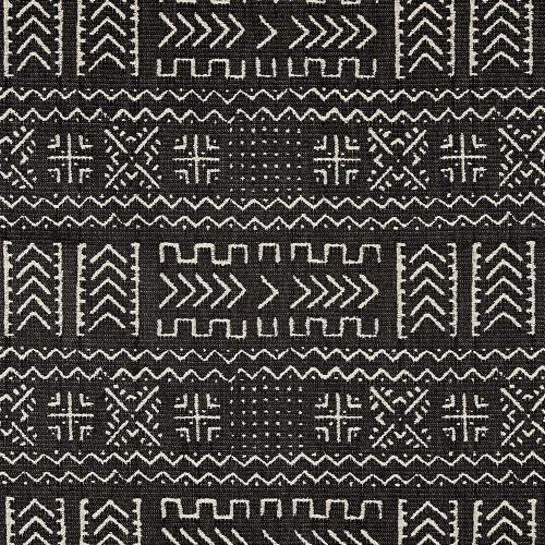 Covington Mazinda Onyx Woven Mudcloth Pattern
