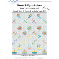 63d40f3a9987 Flutter and Fly Airplanes BOM Quilt Pattern by Designs by Sarah J