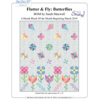 e25d976df85f Flutter and Fly Butterflies BOM Quilt Pattern by Designs by Sarah J