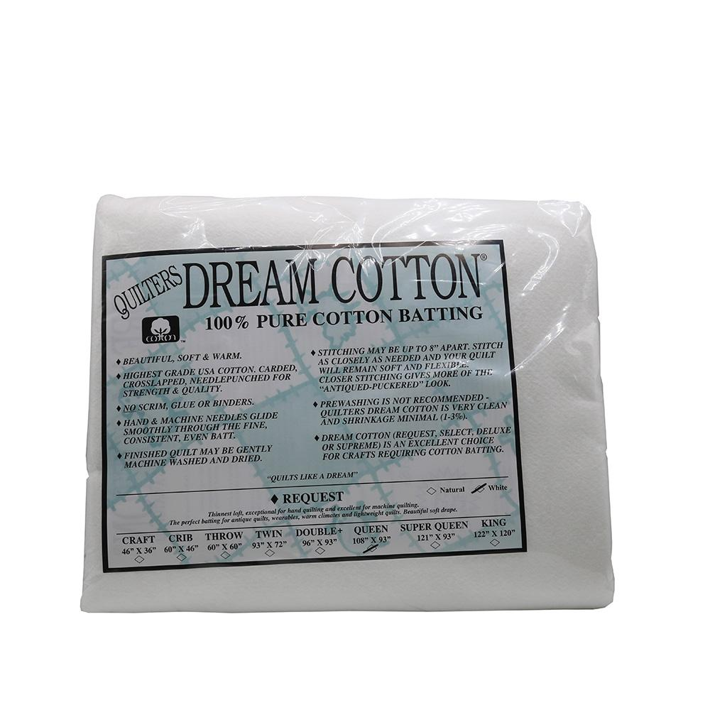 Quilters Dream Cotton Batting-Natural Request Thin Loft-King