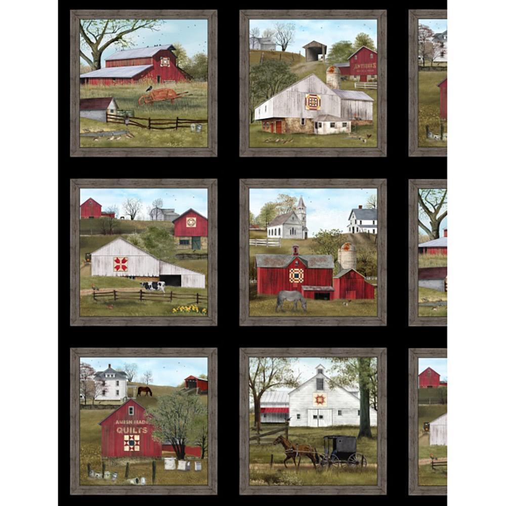 "Elizabeth/'s Studio Amazing Grace by Billy Jacobs 4709 White 24/""  Panel Cotton"