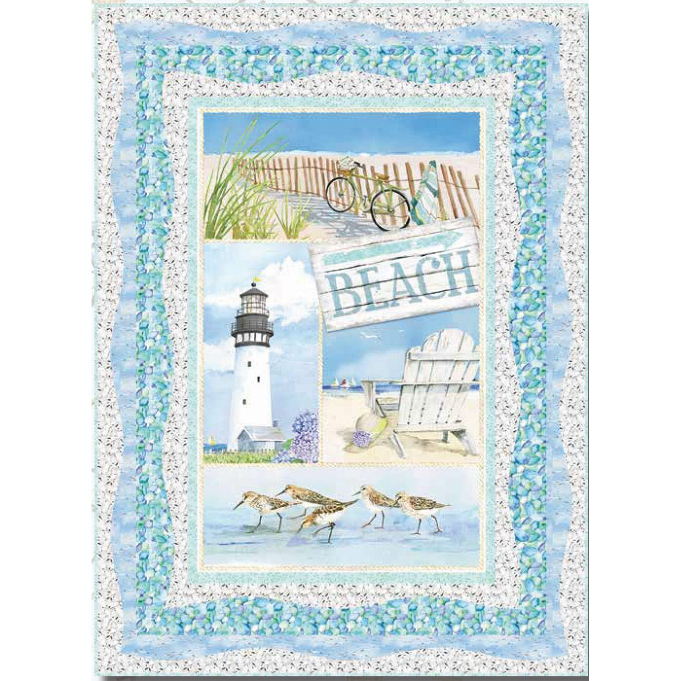 Cotton Fabric Fat Quarter quilting Shells Coastal Paradise by Henry Glass
