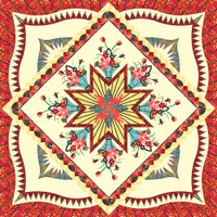 Hoffman English Garden Quilt Kit