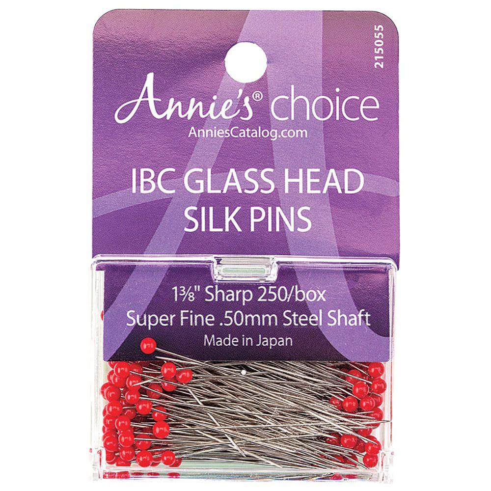 Pink Flat Flower Pins Box of 100 by Collins