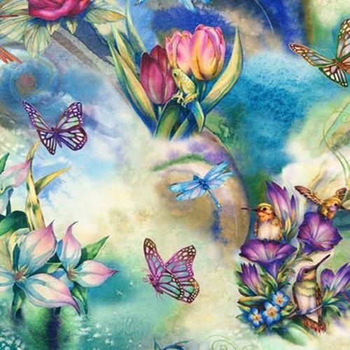Robert Kaufman Morningmoon Fairies Flower Garden Quilt