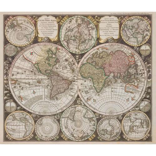 Robert Kaufman Vintage Digital Old World Maps Parchment
