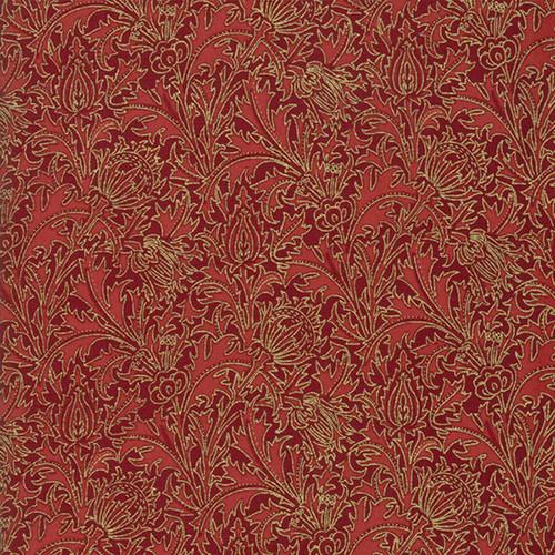 Moda William Morris Christmas 108 Inch Quilt Back Metallic