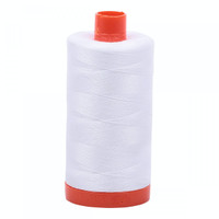 Aurifil Cotton Mako Thread 50 Weight White