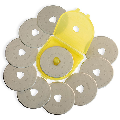 Olfa 45mm Rotary Cutter Replacement Blades 10 Count