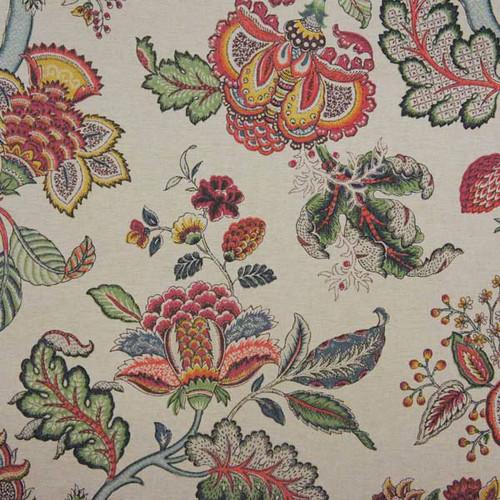 P / Kaufmann Fabrics Triple Crown Jewel Jacobean Floral On ...