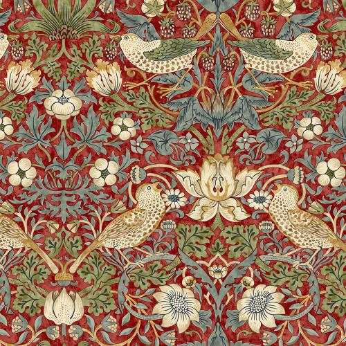Free Spirit Fabrics William Morris Kelmscott Red