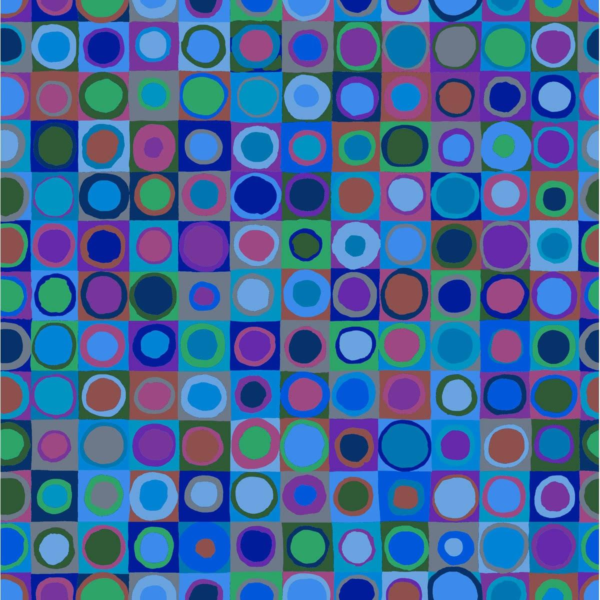 Kaffe Fassett Collective Tiddlywinks Cool By Free Spirit Sold By Half Yard