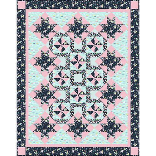 Dear Stella Design Fabrics Save Yourself Starry Maze Quilt Kit