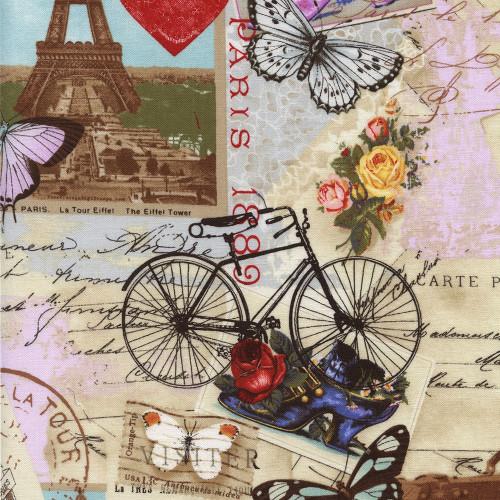 Timeless Treasures Fabrics Natural Beauty Antique Paris