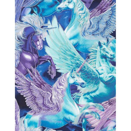Timeless Treasures Novelty Majestic Unicorn Collage Of