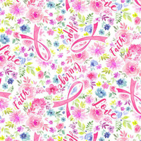 Timeless Treasures Fabrics Pink Breast Cancer Ribbon