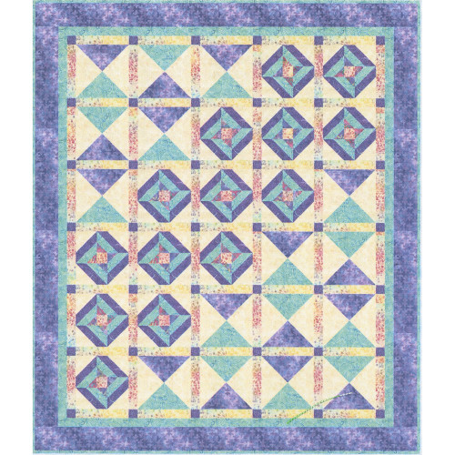 Timeless Treasures Syncopation by Bound to Be Quilting Quilt Kit 65 by 75