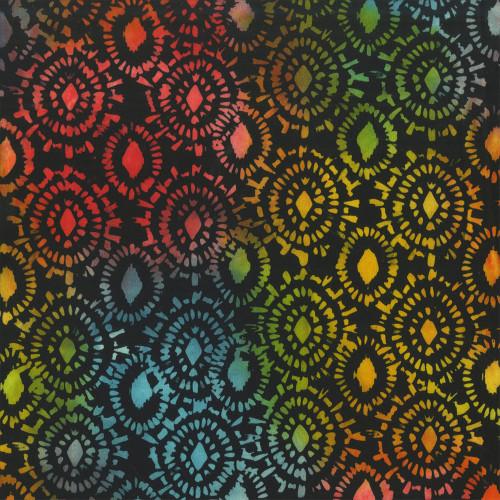 Anthology Batiks Rainbow Medallion 108 Inch Wide Backing