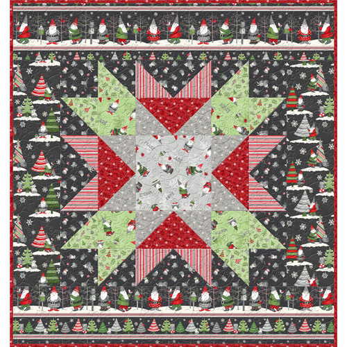 official photos 3ce05 a162a Wilmington Prints Winter Gnomes Debbie Mumm Holilday Wall Hanging Quilt