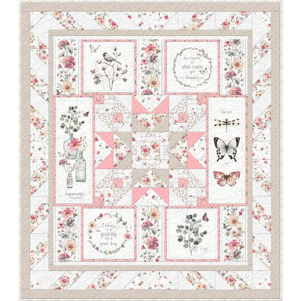 555 539 555-745181393397 Wilmington Prints size 85 x 85-3008 Hydrangea Dreams Queen Quilt Kit